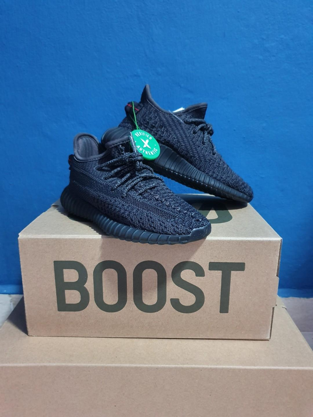Yeezy Boost 350 V2 Black (Non-Reflective) Infant
