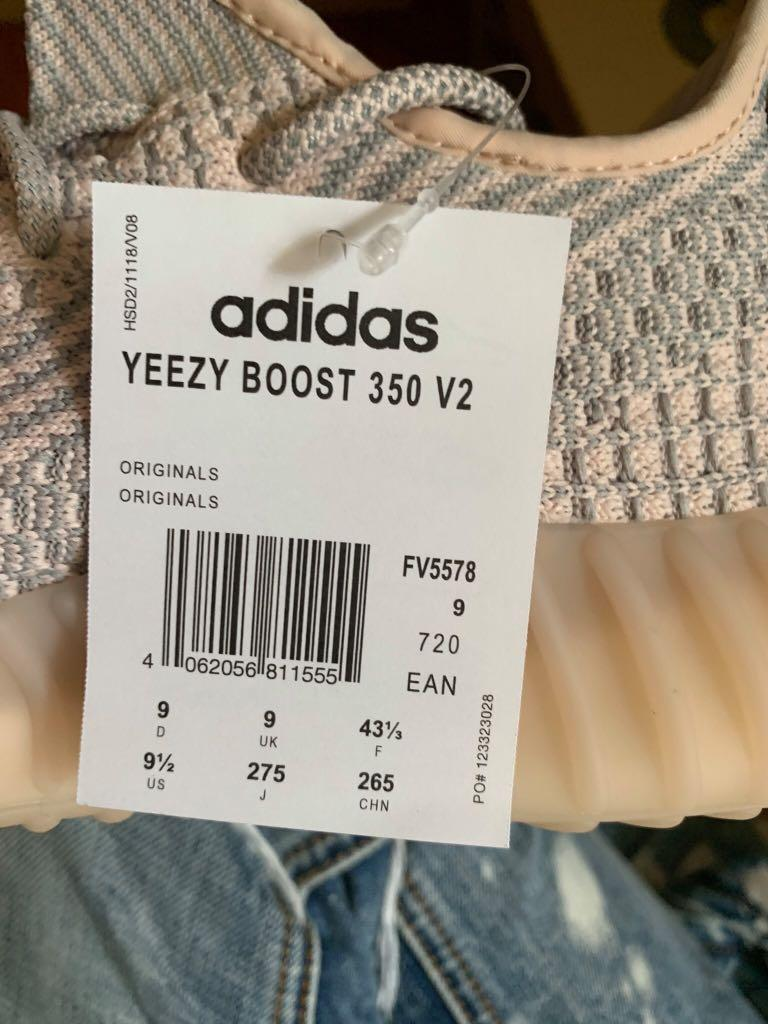Yeezy synth us9.5 brand new