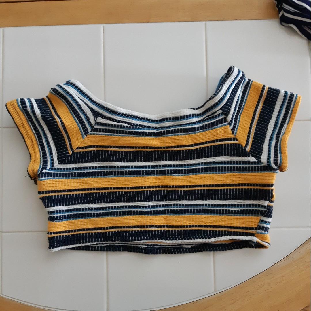 Zara striped colorful crop top