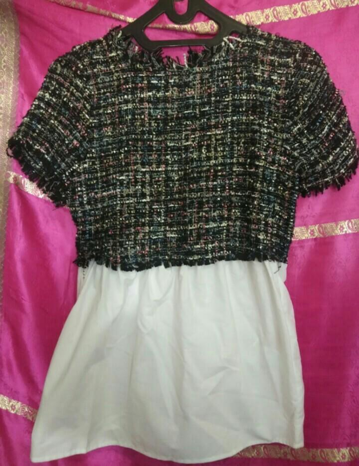 Zara Tweed Top Original
