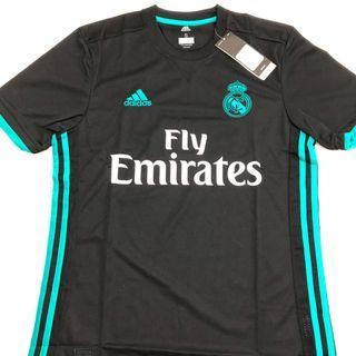 皇馬17/18 Adidas 黑色作客短袖 S/M/L/XL/2XL size 全新連吊牌