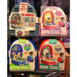 兒童情景💉💄🛒♟🛠🛀🍴🍨玩具背包🎒🎒🎒套裝