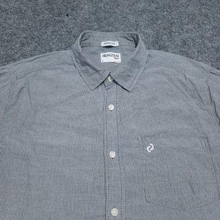 DENIZEN From LEVI'S Pinstriped Shirt Long Sleeve Size M