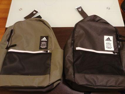 (六折)Adidas 黑色墨綠色 Backpack 背包 背囊