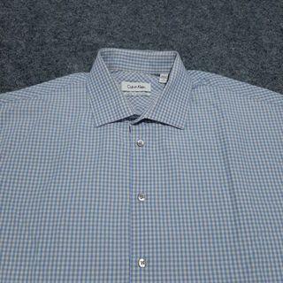 CALVIN KLEIN Gingham Shirt Long Sleeve Size XXL