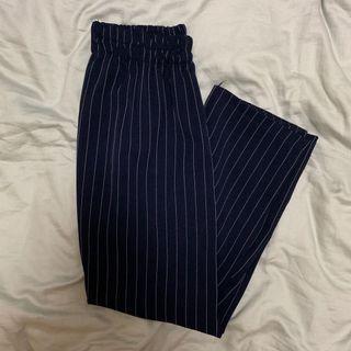 blue & white striped culottes