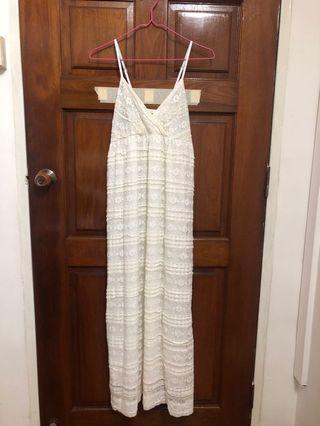 Cream white lace dress