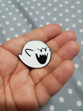 Super mario ghost enamel pin