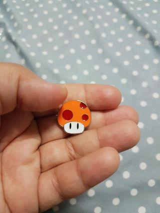 Mushroom enamel badge