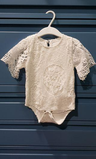 Cute Laced Onesies - White