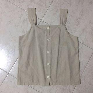LIGHT BEIGE KOREAN BASIC TOP