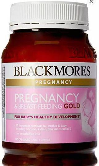 BN Blackmores Pregnancy and Breastfeeding Supplements Gold