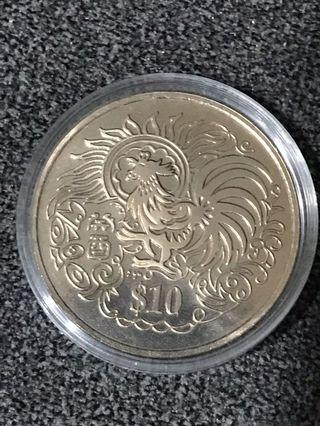 🚚 S$10 Yr 1993 Rooster Coin