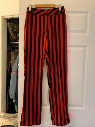 Topshop striped straight leg dress pants - US size 4