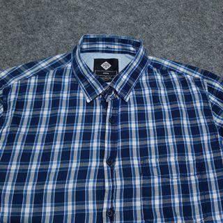 COTTON ON Plaid Cotton Shirt Long Sleeve Size M fit L