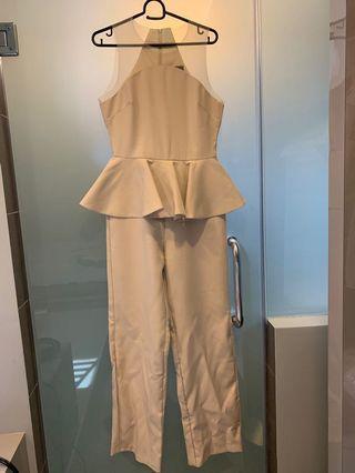 Doublewoot Beige Elegent Jumpsuit