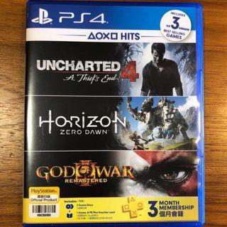 PS4 Uncharted 4 A thief's end AND Horizon Zero Dawn