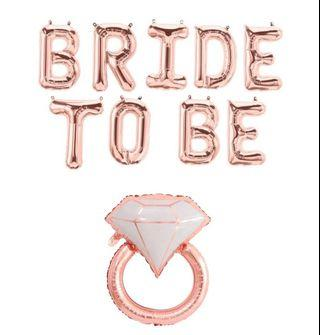Bride to be balloon with ring