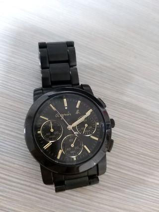 Anges b 鋼帶錶 黑金
