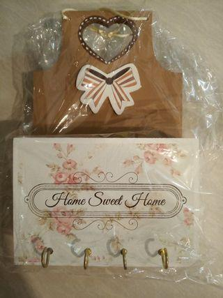 Decorative Home Sweet Home keys and letters holder/organizer