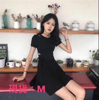 🚚 現貨!韓系氣質挖腰設計連身裙、原價899、新店特惠下殺$520
