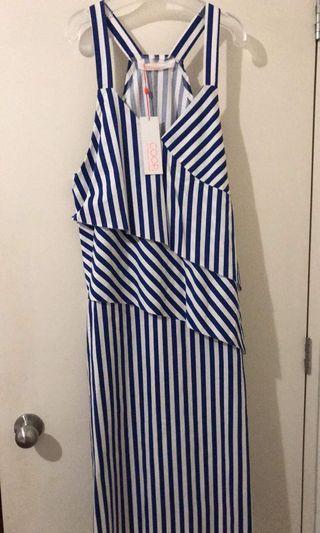 Trelise Cooper Blue & White Maxi dress Size M