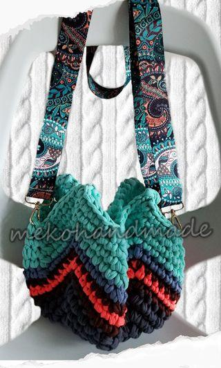 自家鉤織兩用袋