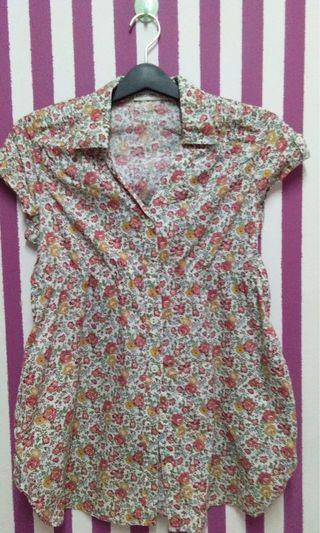 Kitschen blouse floral dress #JuneToGo