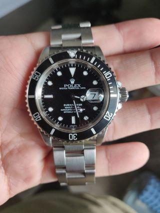 {W/CERT} Rolex Submariner 16610LN Swiss