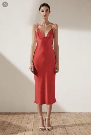 Shona Joy bias slip dress (S)