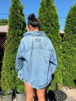 CUTE Over Sized Jean Jacket!