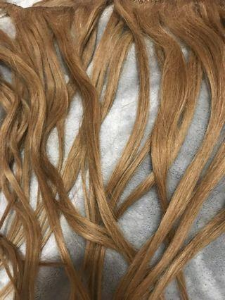 100% Human Hair Clip in Hair Extensions 9 Pieces