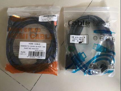 🚚 2 HDMI to DVI cables - $7 each (left 1 now)
