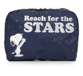Lesportsac Snoopy Pouch (Reach for the Star XL)