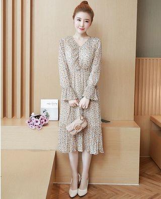 🆓📬Vneck chiffon saloma dress