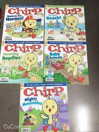 (平均$6一本)Chirp Magazine (ages 3-6)