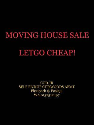 Moving out sale clearance