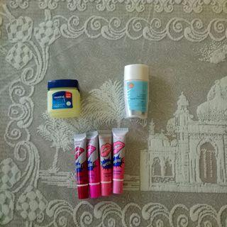 Free Wardah Foundation, Lip Tatto, Vaseline