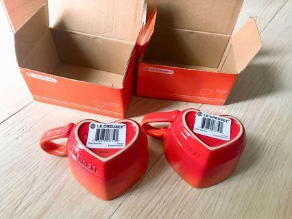 Le Creuset heart mugs(Orange)