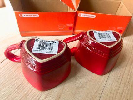 Le Creuset heart mugs (Cherry)