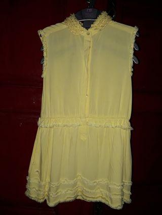 Mididress yellow chateau de sable
