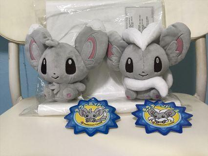 Pokemon Center Minccino and cinccino pokedoll Plush