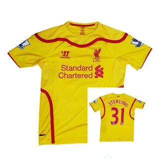Authentic Liverpool 2014-2015 Away Jersey Sterling #31 Size S