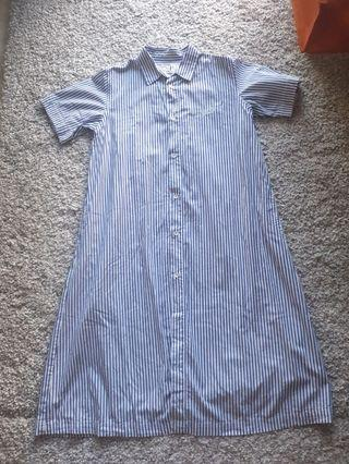 Chocoolate Blue Stripe Dress