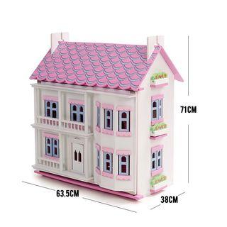 🚚 Wooden doll house playset for girl (285)