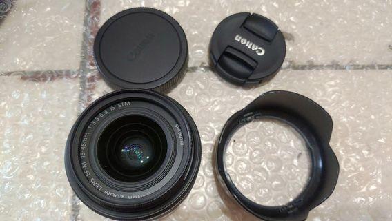二手美品 Canon EFM 15-45  台灣佳能公司貨3300只限面交