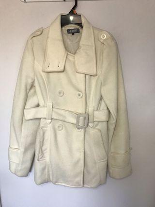 Cream jacket from Italy