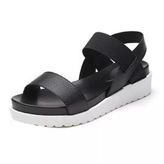 (PO) 35-40 shoes woman Women's Summer Sandals Shoes Peep-toe Low Shoes Roman Sandals Ladies Flip