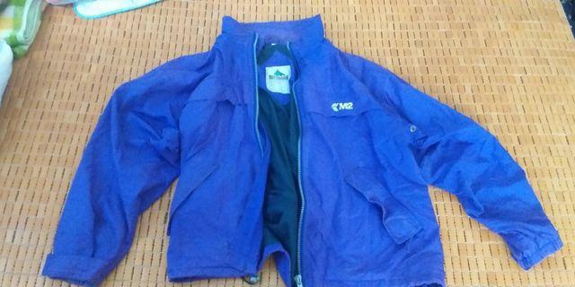 古著紫色防風外套