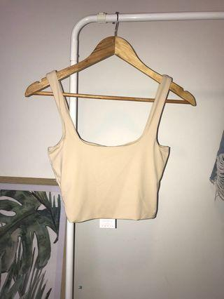 [NEW WITH TAGS]  Square Neck Crop Top